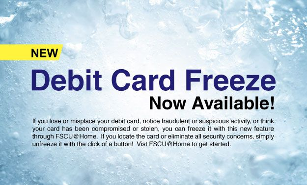 Debit Card Freeze